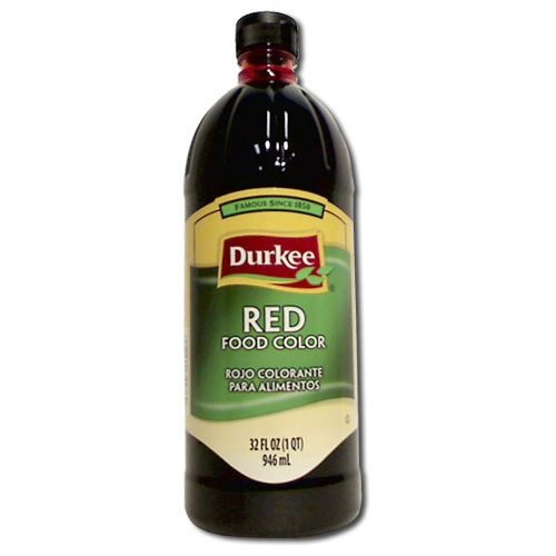 Durkee Red Food Color, 6 Bottles Per Case, 32 Ounces Per Bottle. by Durkee