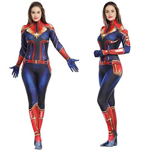 Costumes With C (Carol Danvers Costume,Captain Cosplay,Captain Carol Danvers Cosplay Costume Suit Full Set for Women)