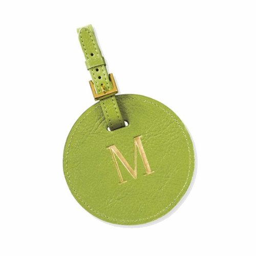 Circle Golf Leather Bag Tag , Turquoise by Graphic Image (Image #2)
