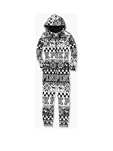 Victoria's Secret PINK Onesie Pajamas BW Snow X-Small