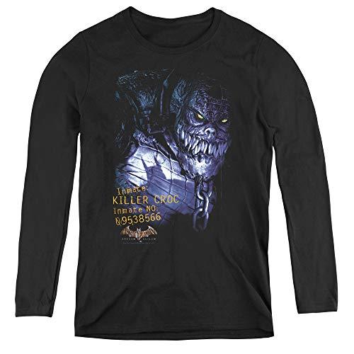 Batman Aa Arkham Killer Croc Adult Long Sleeve T-Shirt for Women, Small Black