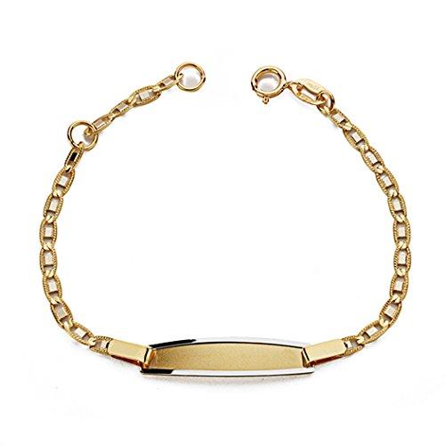 Gourmette 18k gold 14cm bicolor. [AA0624] - personnalisable - ENREGISTREMENT inclus dans le prix
