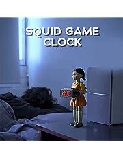 Väckarklocka, 123 trä man väckarklocka ornament, röd ljusgrön ljusdocka, sovrum elektronisk träman väckarklocka, kreativa gåvor