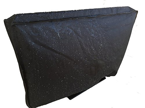 Outdoor TV Cover - Weatherproof Universal Protector for 36'' - 38'' LCD, LED, Plasma Television Screens. Full 360 Degree Protection With Bottom Seal. Compatible with Standard Mounts and Stands - Black by Stronghold Accessories