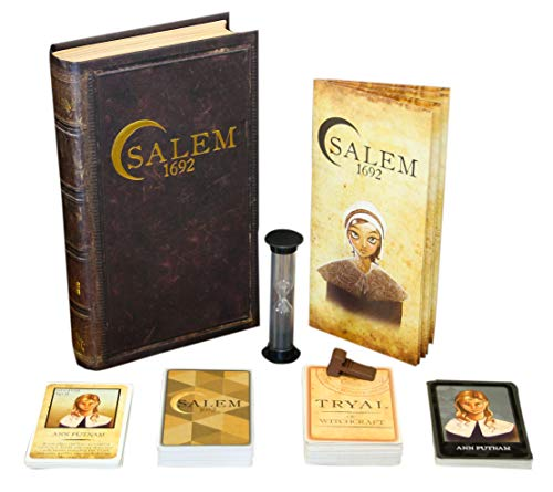 Salem 1692 Board Game - Witch Hunt Game Friends Family – A Game Cards, Strategy, Deceit Luck 4-12 Players