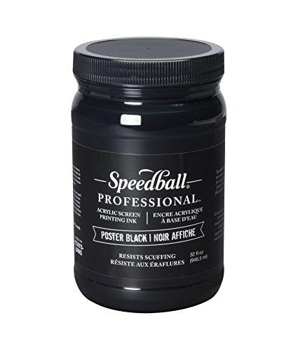 Speedball 004920 Acrylic Screen Printing Ink, 32 fl. oz, Poster Black by Speedball