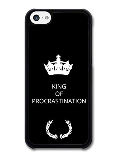 New Funny King of Procrastination Gift Idea on Black Design coque pour iPhone 5C
