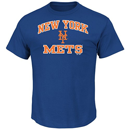 New York Mets Adult Arch and Logo T-Shirt - Royal , Small