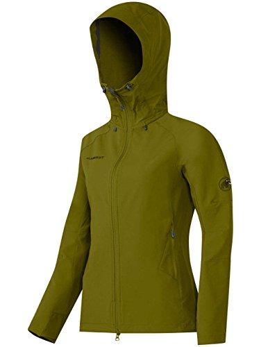 Mammut Base Jump SO Hooded Jacket Women (Softshell Jackets/Vests) Verde