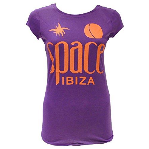 Nativo Ibiza Logo Morado Mujer Space Camiseta dIqZnw66