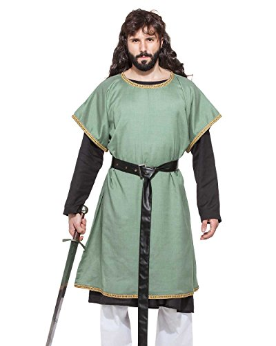 Medieval Renaissance Pirate Viking LARP Mens Costume Medieval Huntsman Tunic (X-Large) -