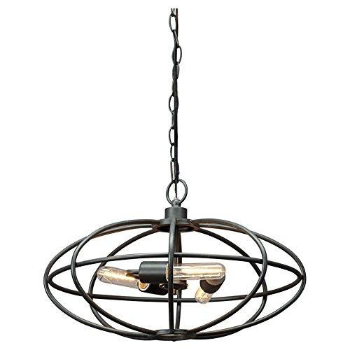 Ashley Furniture Signature Design -  Kenturah Industrial Metal Pendant Lamp, Large, Dark Grey