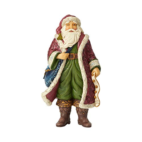 Enesco Jim Shore Heartwood Creek Victorian Santa with Satchel