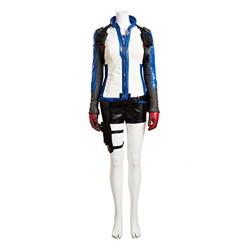 MLYX Women's Overwatch Cosplay Soldier 76 Cosplay Costume Outfit (Large, Jacket+Gloves) (Soldiers Outfit)