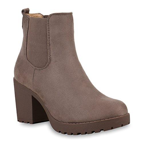 Khaki Boots Stiefelparadies Chelsea Women's Amares 7qxpH1wBO