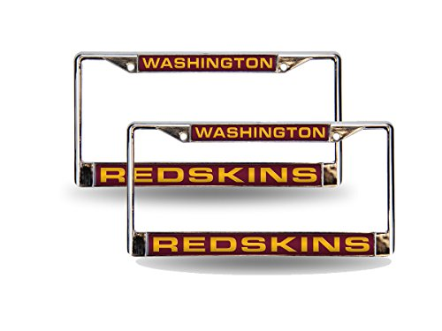 Rico Washington Redskins NFL Chrome Metal (2) Laser Cut License Plate Frame Set