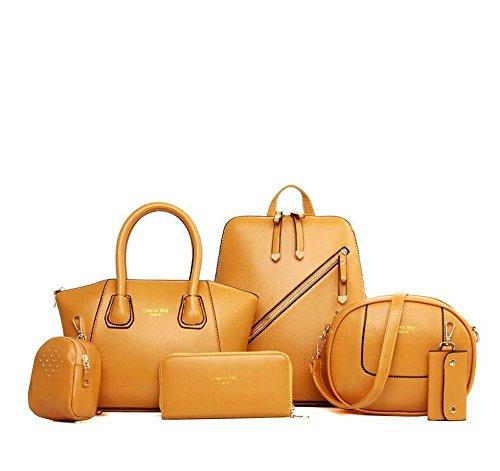 Aoligei Sacs à main en Europe de femmes et aux États-Unis double kit de sac à bandoulière multifonction polyvalent A