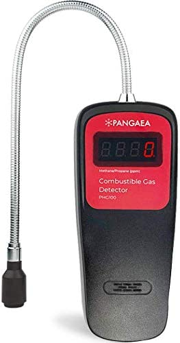 PANGAEA Digital Gas Detector | 0-9,999ppm & 1ppm Resolution Display | Portable Natural Gas Tester | Combustible Propane Methane Gas Sensor Sniffer with Sound Light Warning, Adjustable (Detector simplest)