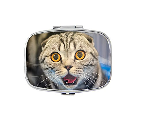 Funny cat with blurred Pill Box Pill Case Pill Csaes Fashion Pill (Blurred Cats)