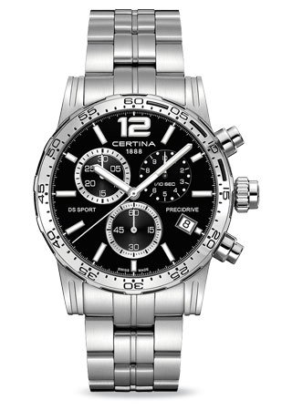 Certina DS Sport Chronograph Black Dial Stainless Streel Mens Watch C027.417.11.057.00