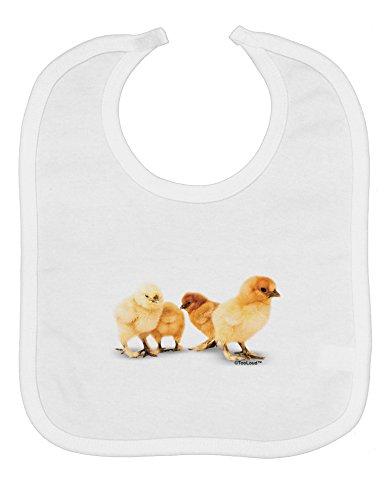 (TooLoud Cute Chicks Baby Bib - White)
