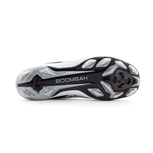 Boombah Mens-katalysator-vormig Midden-schoenplaatjes - 8 Kleurenopties - Meerdere Maten Zwart / Grijs