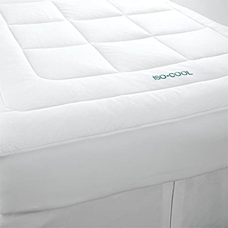 Brylanehome Iso Cool Mattress Topper White Queen