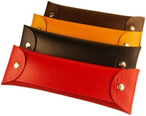 JUNGEN 4 Stück Mäppchen Leder Stifte Tasche Handtasche Kleine Gegenstände Schreibwaren Pencil Case Karte Beutel mit Button