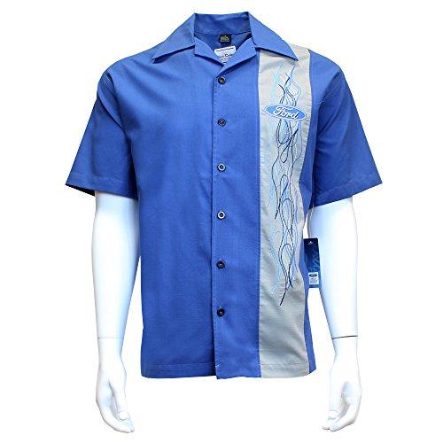 - David Carey Originals Ford Flames Camp Shirt, 3XL