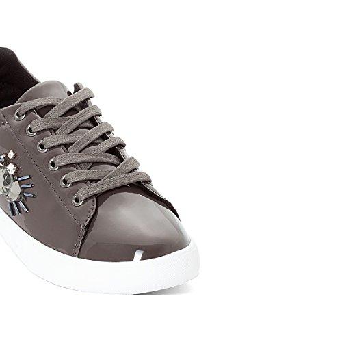 Mademoiselle R Frau Sneakers mit Stickerei Gre 41 Grau La Redoute RUIq4mv