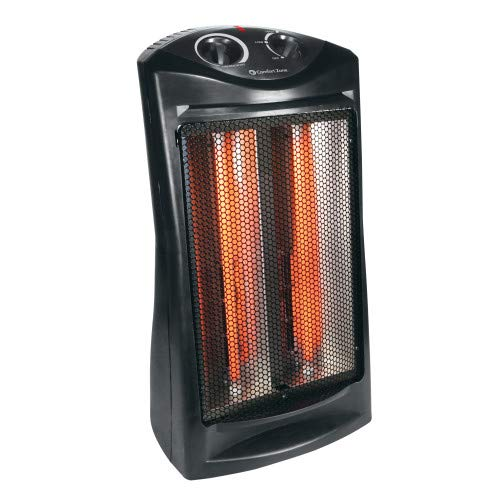 Comfort Zone CZQTV007BK Fan-Assisted Tower Radiant Quartz Heater, Black