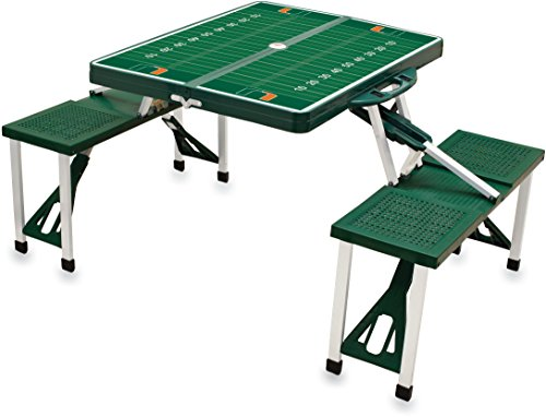 NCAA University of Miami Hurricanes Digital Print Picnic Table Sport, Green, One Size by PICNIC TIME