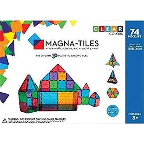 Magna Tiles Clear Colors 74 Piece Set - 14874 ()