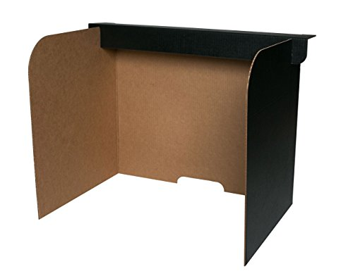 855 Desktop Privacy Screen, Large (Pack of 24) (Desktop Carrel)