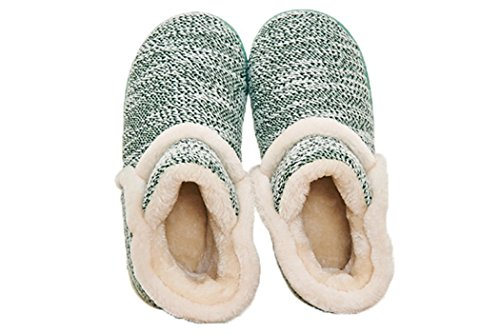 MiYang Vintage Arctic Solid Indoor Boot Slippers Green Vn93rJ