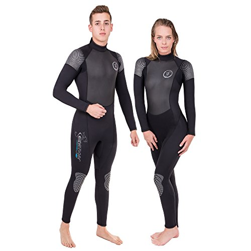 Seavenger Odyssey 3mm Wetsuit | Full Body Neoprene Suit for Scuba Diving, Snorkeling, Freediving (Surfing Black, Women's 7)