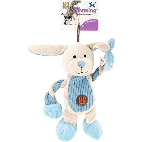Charming Farm Pulleez Bunny Squeaker Dog Toy, 13 x 11 x 13cm