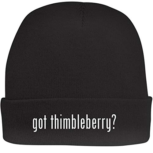 Shirt Me Up got Thimbleberry? - A Nice Beanie Cap, Black, OSFA
