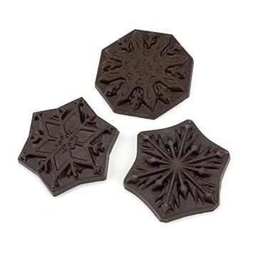 Policarbonato molde para Chocolate juego de (copos de nieve): Amazon.es: Hogar