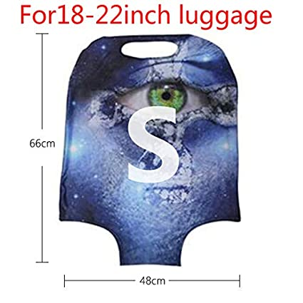 FOR U DESIGNS 18//20//22//24//26//28//30 Inch Personalized Flag Spandex Travel Luggager Covers