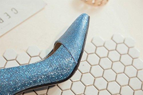 Salón Sandalias Imitación Pesado Diamantes Lucky Atractivos Hippie De Gran Aguja Verano Zapatos Clover a a Tacón Estilo Metal Tacones Alto Tamaño xq1H1XYC