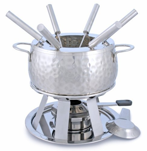 Swissmar F66917 11-Piece Bienne Meat Fondue Set, Stainless Steel by Swissmar