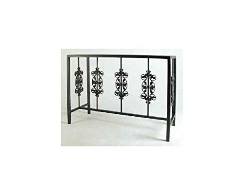 Rose Garden Buffet Table w Glass Insert from Grace Collection
