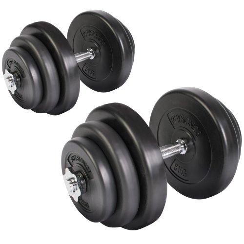 Physionics–hsta28–Set d'haltères, 2haltères de 20kg/u