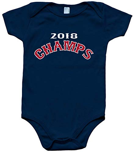 Navy Boston Series Champions 2018 Text Baby 1 Piece ()