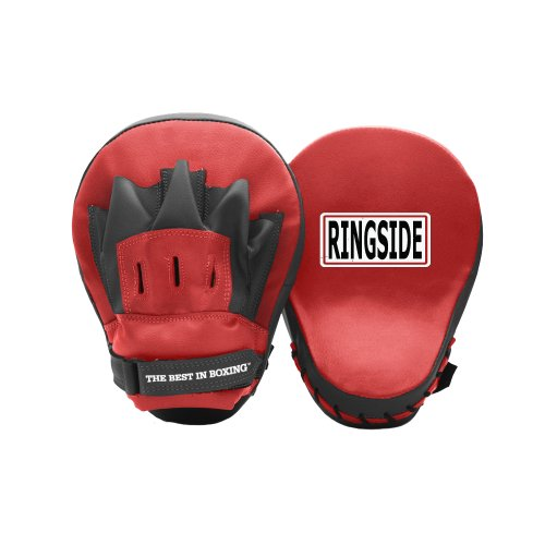 Curved Mitts (Ringside Curved Boxing MMA Muay Thai Karate Training Target Focus Punch Pad Mitts)