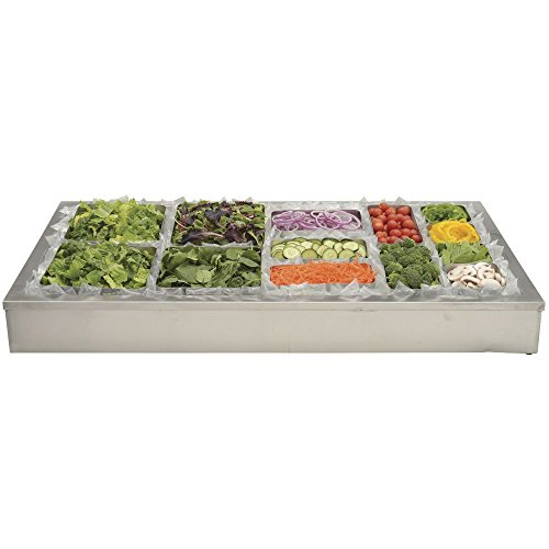 HUBERT Ice Display for Cold Foods and Beverages Stainless Steel - 48''L x 24''W x 8''H by Hubert