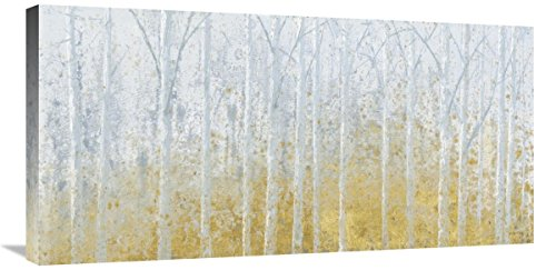 """Global Gallery James Wiens, Silver Waters No River Gold' Giclee Stretched Canvas Artwork, 36 x 18"""" from Global Gallery"""