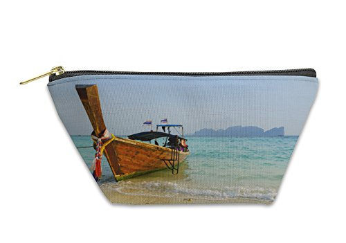 Phi Coin Purse (Gear New Accessory Zipper Pouch, Traditional Longtail Boat In On Koh Phi Phi Don Island Krabi T, Small, 5891299GN)
