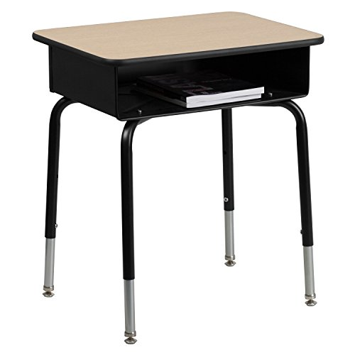 Flash Furniture Student Desk with Open Front Metal Book (Steel 0.625' Point)